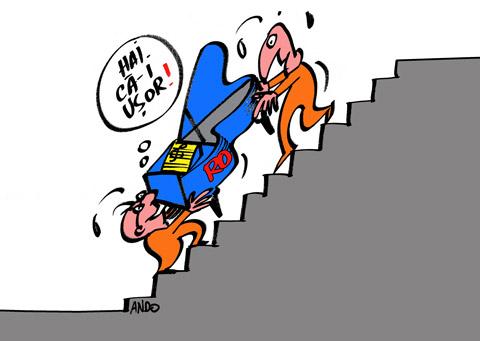 ANDOgrafia Zilei - Cu pianul pe scări / joi 29 decembrie 2011